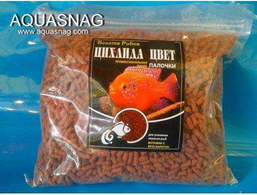 Фото Цихлида яркий цвет -100г, корм в палочках для усиления окраски рыб, ТМ Золотая Рыбка aquasnag.com