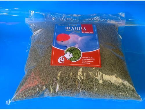 Фото Флора гранулы №1 -1кг, это корм со специальными растительными добавками, ТМ Золотая Рыбка Смотреть
