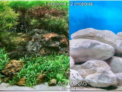 Фото Фон для аквариума двухсторонний (199), высота 45cм,  цена за 15м aquasnag.com