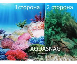 Фон для аквариума двухсторонний, высота 40cм(9099-9031), цена за 15м