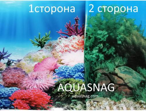 Фото Фон для аквариума двухсторонний, высота 40cм(9099-9031), цена за 15м Купить