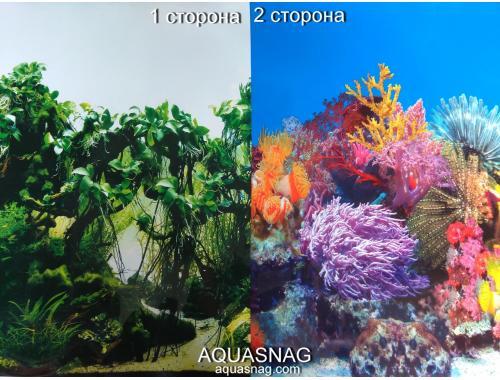 Фото Фон для аквариума двухсторонний, высота 50cм(8002-8001), цена за 15м Купить