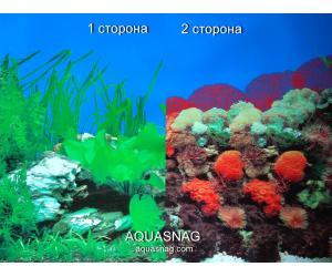 Фон для аквариума двухсторонний, высота 60cм(9003-9001), цена за 15м