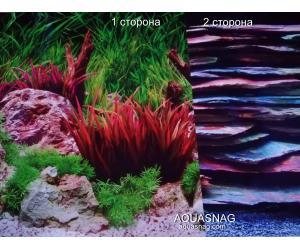 Фон для аквариума плотный двухсторонний (978), высота 45cм,  цена за 10см