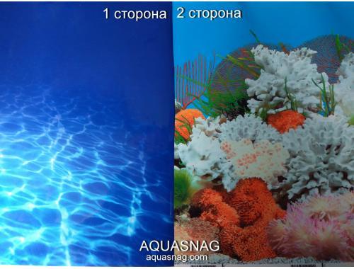 Фото Фон для аквариума плотный двухсторонний, высота 100cм(9063-9029), цена за 15м Смотреть