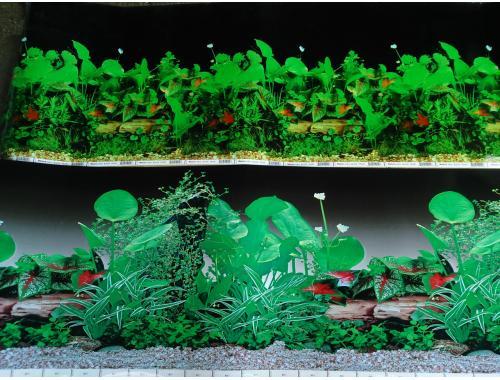 Фото Фон для аквариума плотный двухсторонний, высота 40cм(9014чер-9011черн), цена за 10см Смотреть