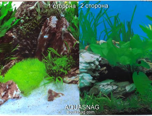 Фото Фон для аквариума плотный двухсторонний, высота 40cм(9028-9003), цена за 10см Смотреть