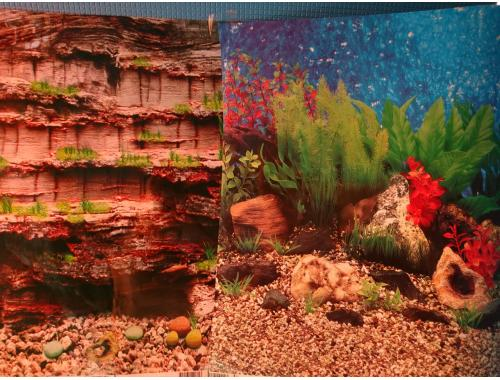 Фото Фон для аквариума плотный двухсторонний, высота 40cм(9035-9019), цена за 10см Купить