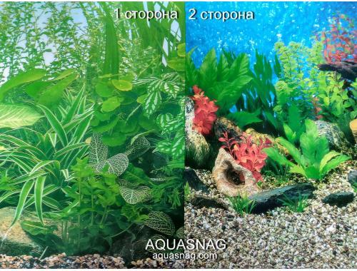 Фото Фон для аквариума  плотный,  двухсторонний высота 40cм(9051-9019), цена за 10см Смотреть