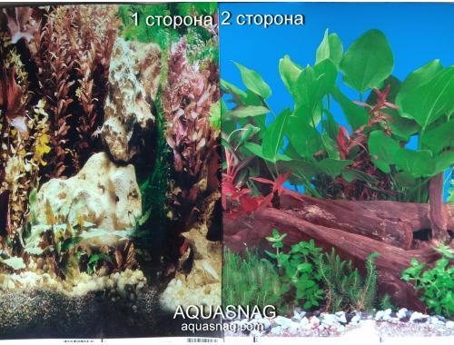 Фото Фон для аквариума плотный двухсторонний, высота 40cм(9058-9059), цена за 10см Купить