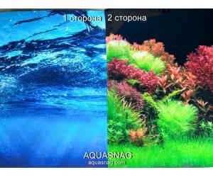 Фон для аквариума плотный двухсторонний, высота 50cм(8008-8007), цена за 10см