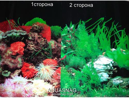 Фото Фон для аквариума плотный двухсторонний, высота 50cм(9001чер-9003чер), цена за 10см Купить