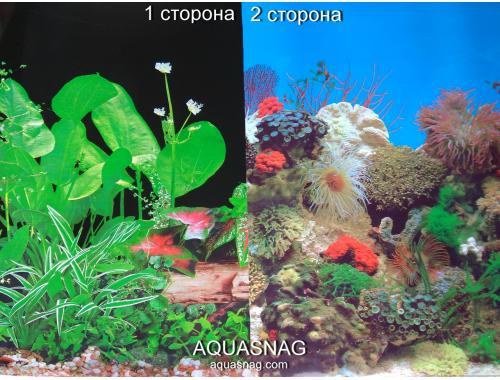 Фото Фон для аквариума плотный двухсторонний, высота 50cм(9011чер-9001), цена за 10см aquasnag.com