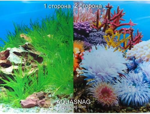 Фото Фон для аквариума плотный двухсторонний, высота 50cм(9022-8006), цена за 10см aquasnag.com