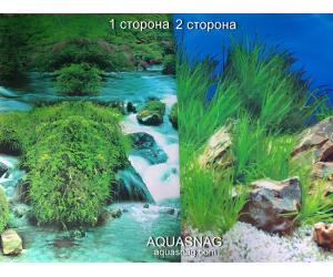 Фон для аквариума плотный двухсторонний, высота 50cм(9037-9022), цена за 10см