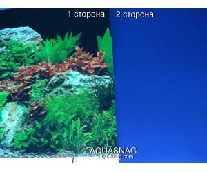 Фон для аквариума плотный двухсторонний, высота 50cм(9071-синий), цена за 10см