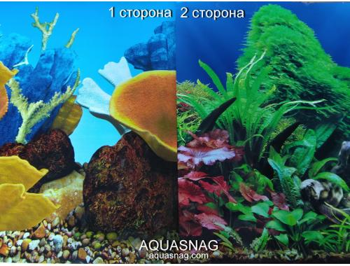 Фото Фон для аквариума плотный двухсторонний, высота 50cм(9096-9097), цена за 10см aquasnag.com