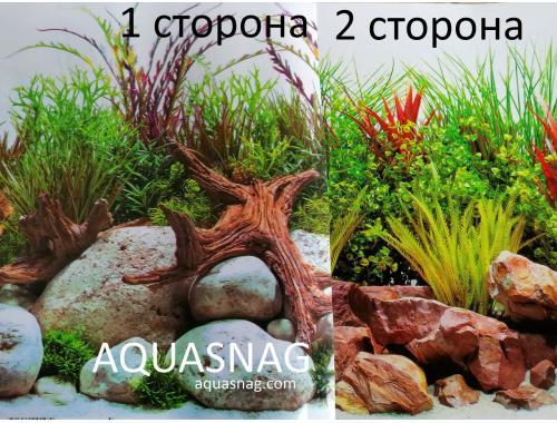Фото Фон для аквариума плотный двухсторонний, высота 60cм(128), цена за 15м aquasnag.com