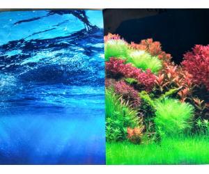 Фон для аквариума плотный двухсторонний, высота 60cм(8008-8007), цена за 10см