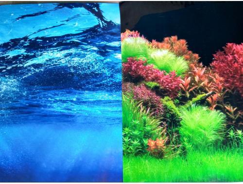 Фото Фон для аквариума плотный двухсторонний, высота 60cм(8008-8007), цена за 15м Смотреть
