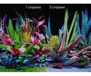 Фон для аквариума плотный двухсторонний, высота 60cм(88941), цена за 10см