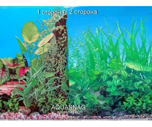 Фон для аквариума плотный двухсторонний, высота 60cм(9011-9051), цена за 10см