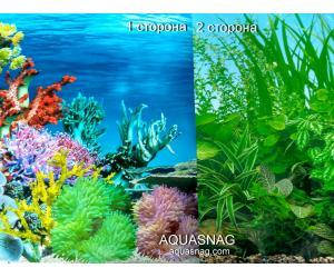 Фон для аквариума плотный двухсторонний, высота 60cм(9024-9051), цена за 10см