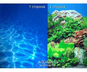 Фон для аквариума плотный двухсторонний, высота 60cм(9063-9071), цена за 10см
