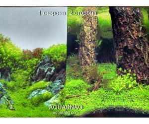 Фон для аквариума плотный двухсторонний, высота 60cм(9087-9086), цена за 10см