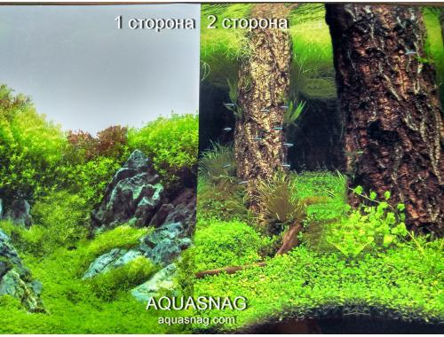 Фото Фон для аквариума плотный двухсторонний, высота 60cм(9087-9086), цена за 15м Купить