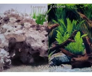 Фон для аквариума плотный двухсторонний, высота 60cм(979), цена за 10см