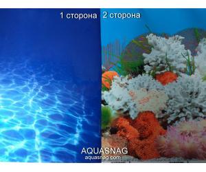 Фон для аквариума плотный двухсторонний, высота 80cм(9063-9029), цена за 15м