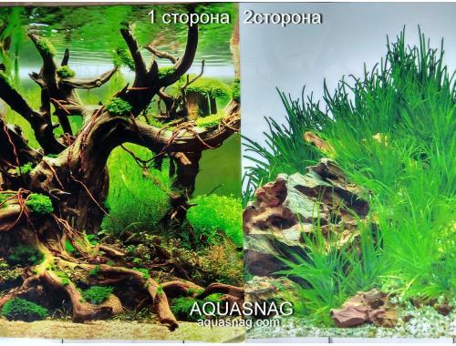 Фото Фон для аквариума плотный двухсторонний, высота 80cм(9098-9022), цена за 10см Смотреть
