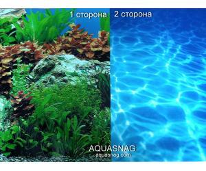 Фон для аквариума плотный двухсторонний, высотой 40cм(9071б-9063), цена за 15м