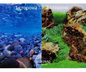Фон для аквариума плотный двухсторонний высотой 60см, (0189), цена за 10см