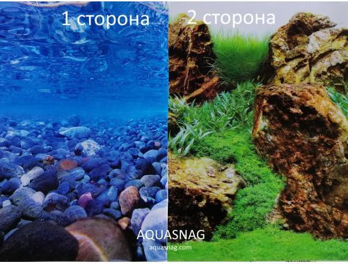 Фото Фон для аквариума плотный двухсторонний высотой 60см, (0189), цена за 10см Смотреть
