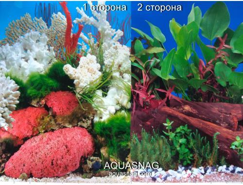 Фото Фон для аквариума плотный двухсторонний высотой 60см. (9029-9059) Цена за 10см Купить