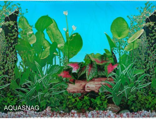Фото Фон для аквариума тонкий односторонний высотой 30см, длина 25м (9011) Купить