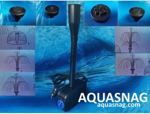 Фото Фонтанный насос с насадками Atman S Sunsun HJ-2200,  2м, 2000l/h, 35W, с регулировкой мощности aquasnag.com