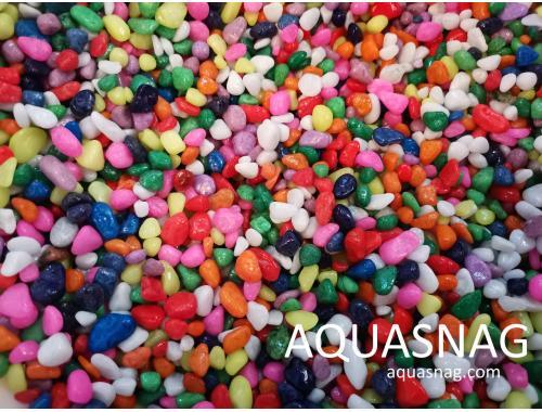 Фото Грунт разноцветный, обкатанный  фракция  (5-10)мм Смотреть