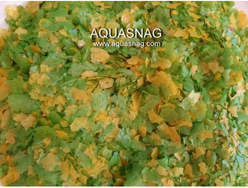Фото Хлопья Флора 100гр, растительный, витаминизированный корм для рыб, ТМЗолотая Рыбка aquasnag.com