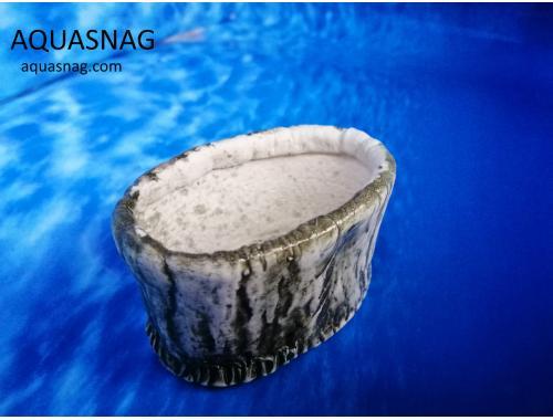 Фото Керамический горшочек овал №1, дл-8см, шир-5см, выс-4.5см Смотреть