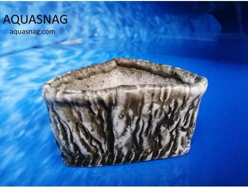 Фото Керамический горшочек треугольный №3, дл-12см, шир-10см, выс-6см aquasnag.com