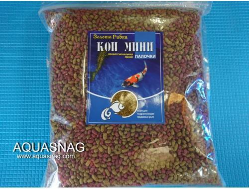 Фото Кои Мини, палочки-1кг, основной, витаминизированный корм для молоди карпов кои. Смотреть