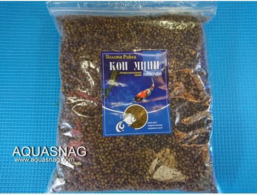 Фото Кои Мини, шарики-1кг, основной, витаминизированный корм для молоди карпов кои. Смотреть
