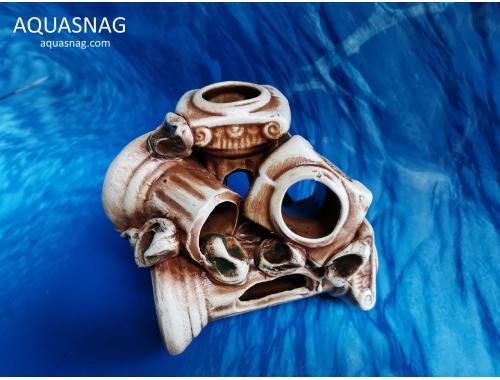 Фото Колонны,  дл 15см, шир 11см, выс 12см, коричневый aquasnag.com