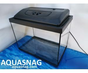 Комплект: аквариум 40л  с пластиковой крышкой и поддоном (дл40/ш25/в40)см