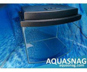 Комплект: аквариум овал 20л  с пластиковой крышкой  (дл30/ш23/в30)см