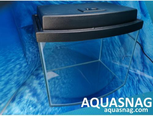Фото Комплект: аквариум овал 20л  с пластиковой крышкой  (дл30/ш23/в30)см aquasnag.com