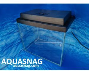 Комплект: аквариум прямой 15л  с пластиковой крышкой  (дл30/ш20/в25)см